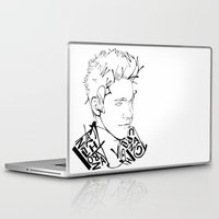 niall Laptop & iPad Skins featuring Typographic Niall by Ashley R. Guillory