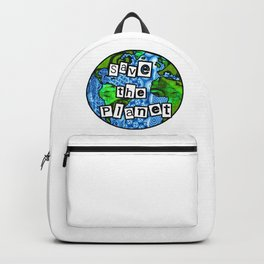 Save the planet Globe Backpack