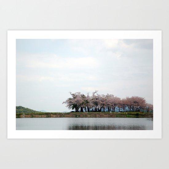 Spring Pond Art Print
