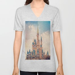 Cinderella's Castle Unisex V-Neck