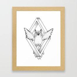 Infinite Owl Framed Art Print