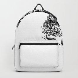 Hand Drawn Beautiful Gangsta Girl With Gun Backpack