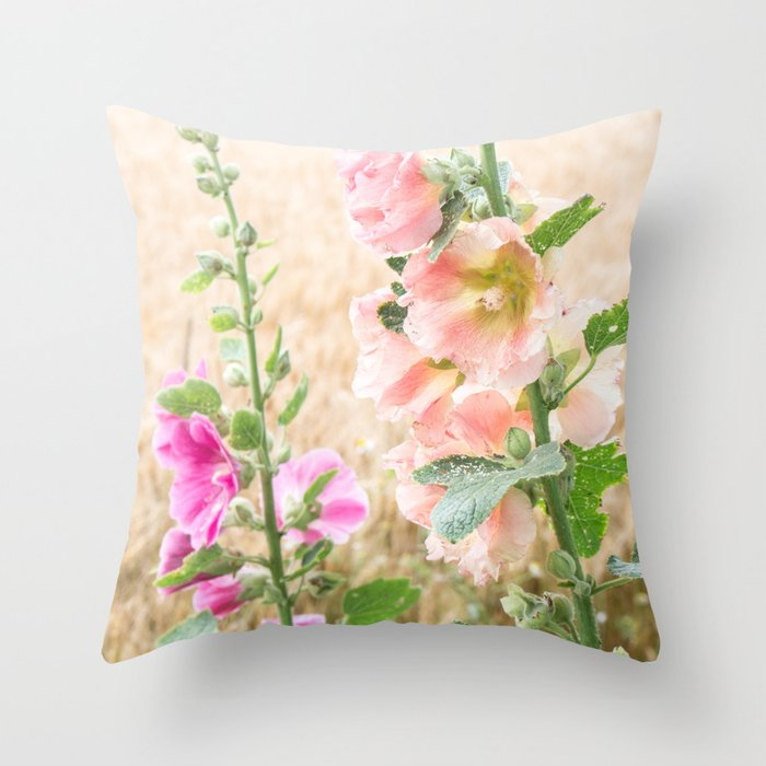 Ruffles in a Wheat Field Throw Pillow