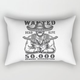 Wanted Dead or Alive Rectangular Pillow