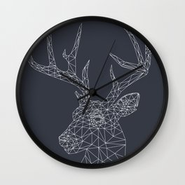 Interconnected Deer Wall Clock