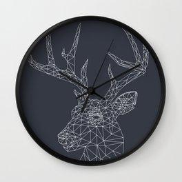 Interconnected Deer Wall Clock
