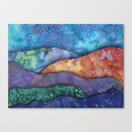 Multicolored Torn paper collage Canvas Print