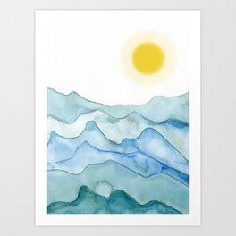 Sea and sun Art Print