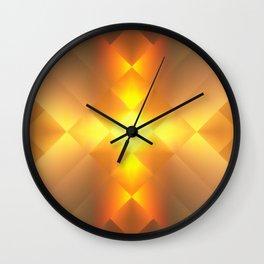 Gold Lamp Wall Clock