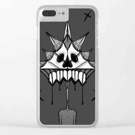 SkullFace Halo Clear iPhone Case