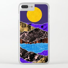 Textured lands Clear iPhone Case