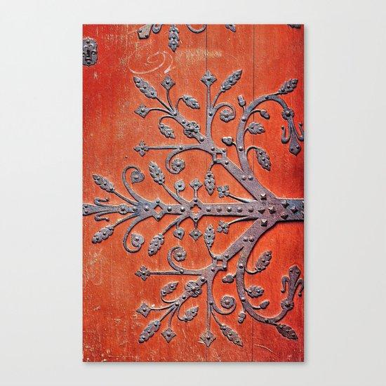 Gothic Red Door Canvas Print