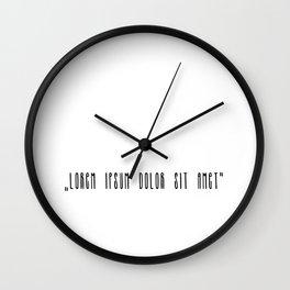 """Lorem ipsum dolor sit met"" Wall Clock"