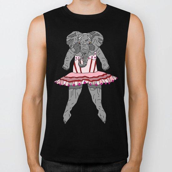 Elephant Ballerina Tutu Biker Tank