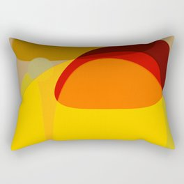 Orange, Yellow and Green Rectangular Pillow