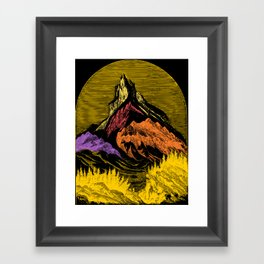 The Acid Peak of Tempests Framed Art Print