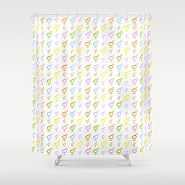 Symbol of Transgender 35 Shower Curtain