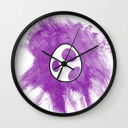 Purple Yoshi Egg Wall Clock