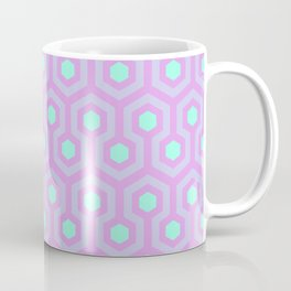 Lavender, Opal Purple, and Mellow Neon Green Pattern Coffee Mug