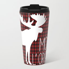 Lumberjack Plaid Moose Travel Mug