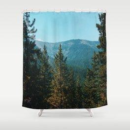 let's mountain adventure/ jasper, canada Shower Curtain