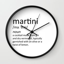 The cocktail series: 'martini' Wall Clock