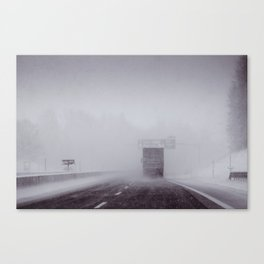 through the snow Canvas Print