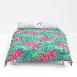 Pink Panther Jungle Scape Comforters