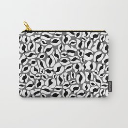 Leopard Print | black and white monochrome | Cheetah texture pattern Carry-All Pouch
