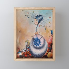 Le petit monde de seraphine Framed Mini Art Print