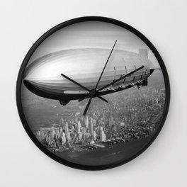 Airship over New York Wall Clock
