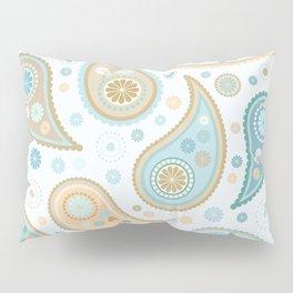 Paisley Funky Design Blues Creams & Caramels Pillow Sham
