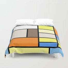The Colors of / Mondrian Series - To toro - Miyazaki Duvet Cover