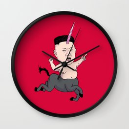Kim Jong Unicorn Wall Clock