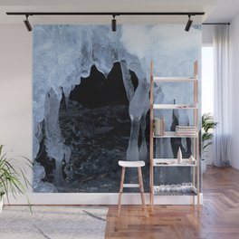 Watercolor Ice 54, Icy Cave of the Dancing Ladies Wall Mural