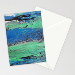 GALATHI Water Ocean Blue Painting Stationery Cards