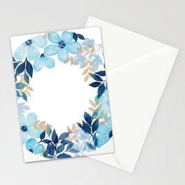 Meraki Blue Fields Wreath Stationery Cards