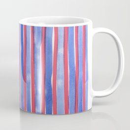 Red and Blue stripes watercolor design 4th of July Coffee Mug