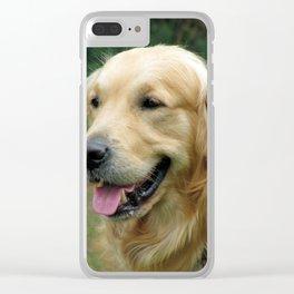 Golden Retriever Pet Clear iPhone Case
