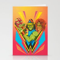 wrestling Stationery Cards featuring Classic Wrestling by RJ Artworks