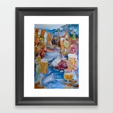Kalispell Beer/Wine open Framed Art Print
