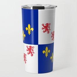 historic flag of picardie Travel Mug