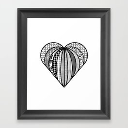 heart made from pieces Framed Art Print