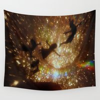 peter pan Wall Tapestries featuring Peter Pan by zeebee