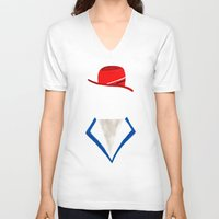 agent carter V-neck T-shirts featuring Agent by Sebastian DeTemple