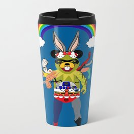 Cartoon Creature  Metal Travel Mug