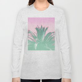 Palm Tree Leaves Tropical Vibes Design Long Sleeve T-shirt