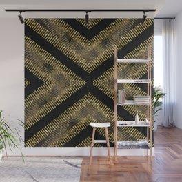 Black Gold | Tribal Geometric Wall Mural