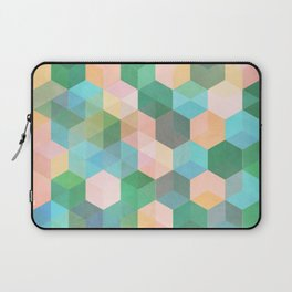 Child's Play - hexagon pattern in mint green, pink, peach & aqua Laptop Sleeve