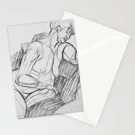 Sitting Nude Stationery Cards